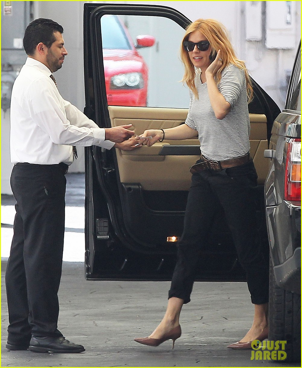sienna miller sports red hair for busy beverly hills afternoon 083067747