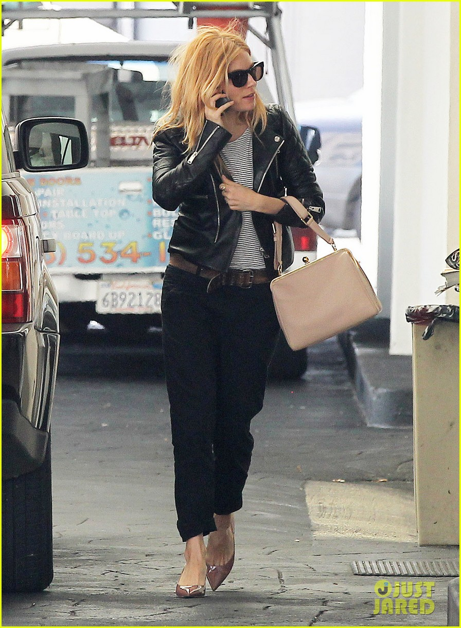 sienna miller sports red hair for busy beverly hills afternoon 093067748