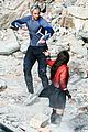 elizabeth olsen aaron taylor johnson more action packed avengers 2 pics 04