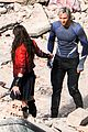 elizabeth olsen aaron taylor johnson more action packed avengers 2 pics 22