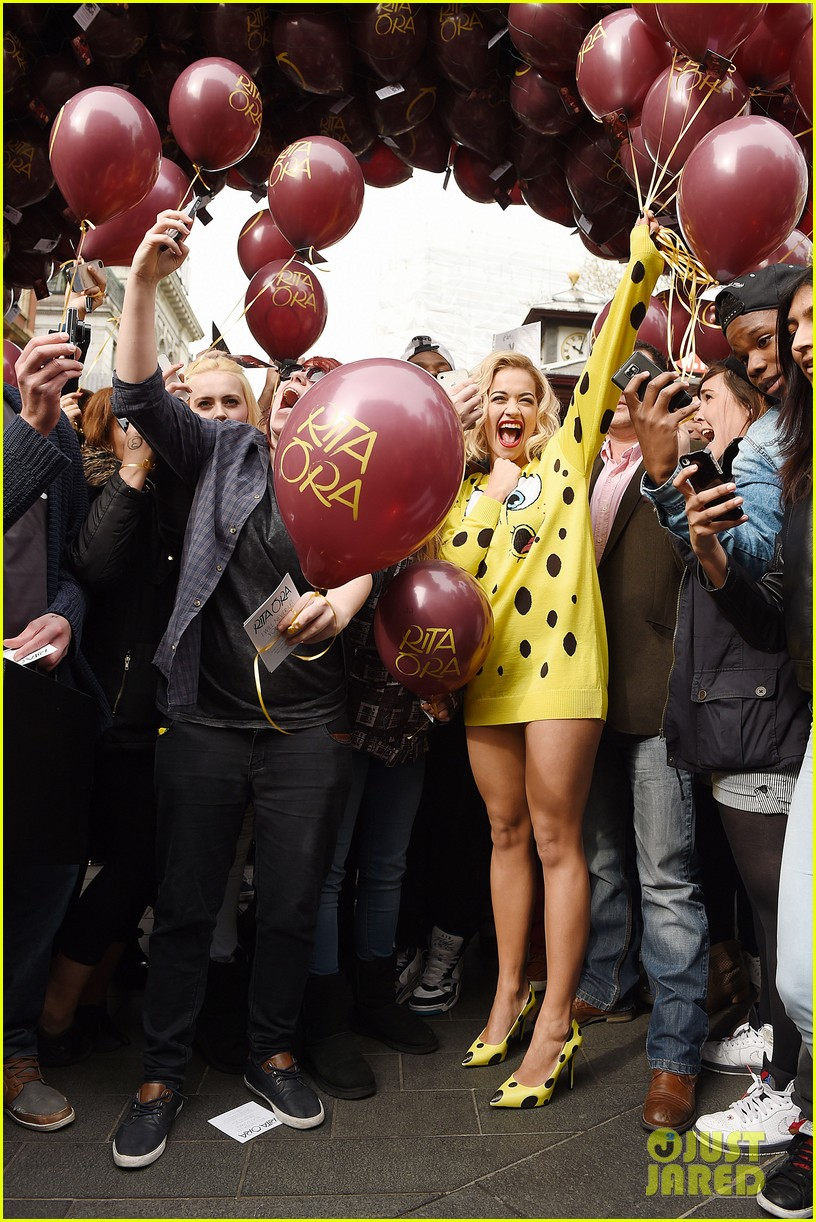 rita ora premieres i will never let you down at bbc radio in spongebob squarepants outfit 053082095