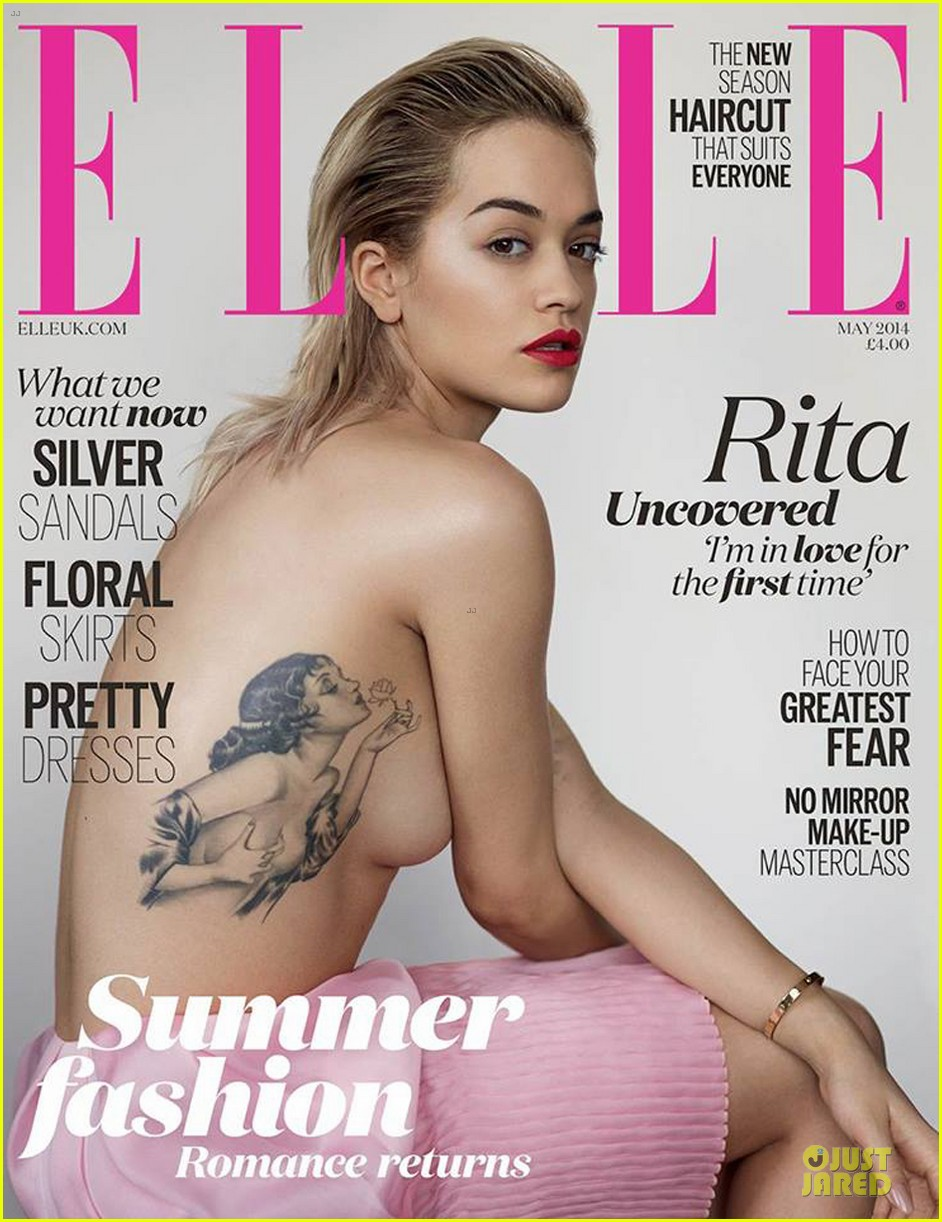 rita ora topless elle uk magazine cover 01