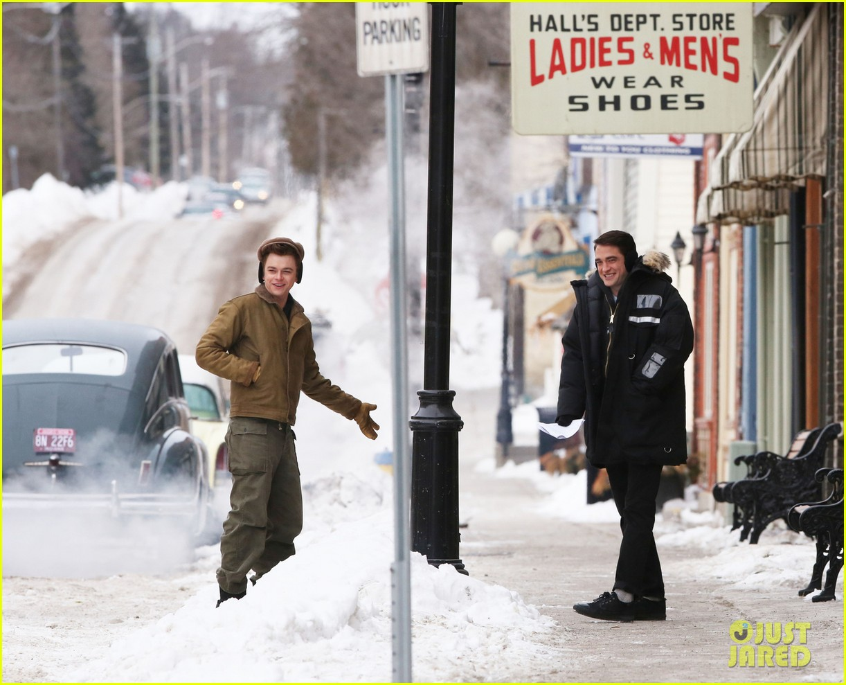 robert pattinson dane dehaan continue filming life in super cold canada 02
