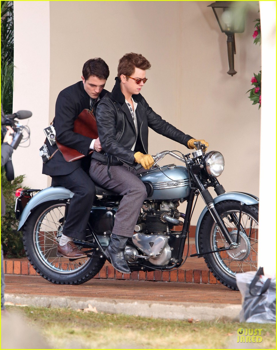 robert pattinson dane dehaan enjoy life on a motorcycle 01