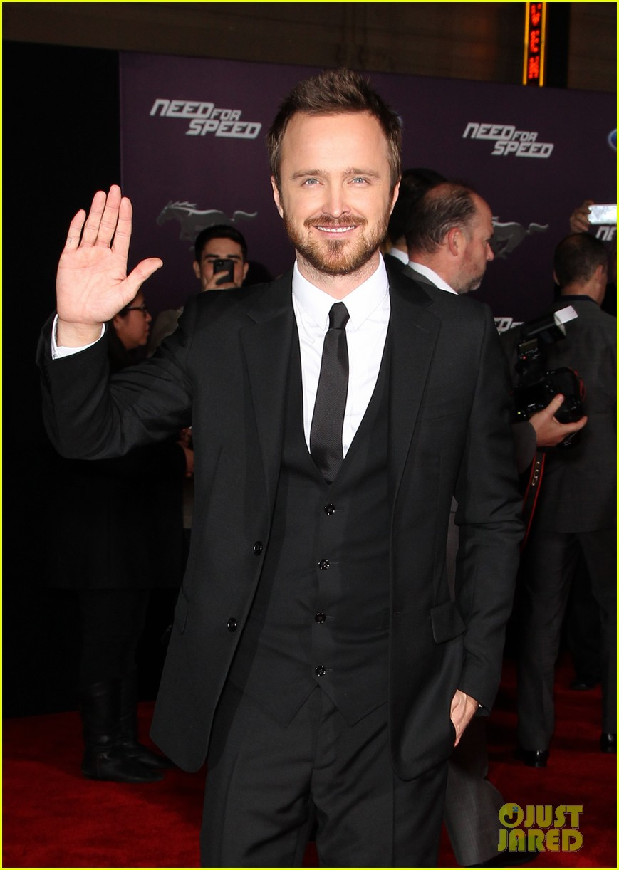 aaron paul imogen poots need for speed premiere 143067567