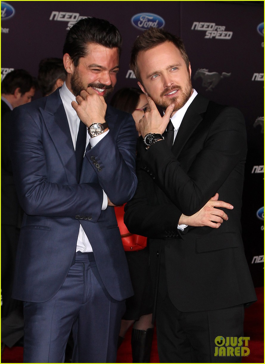 aaron paul imogen poots need for speed premiere 173067570