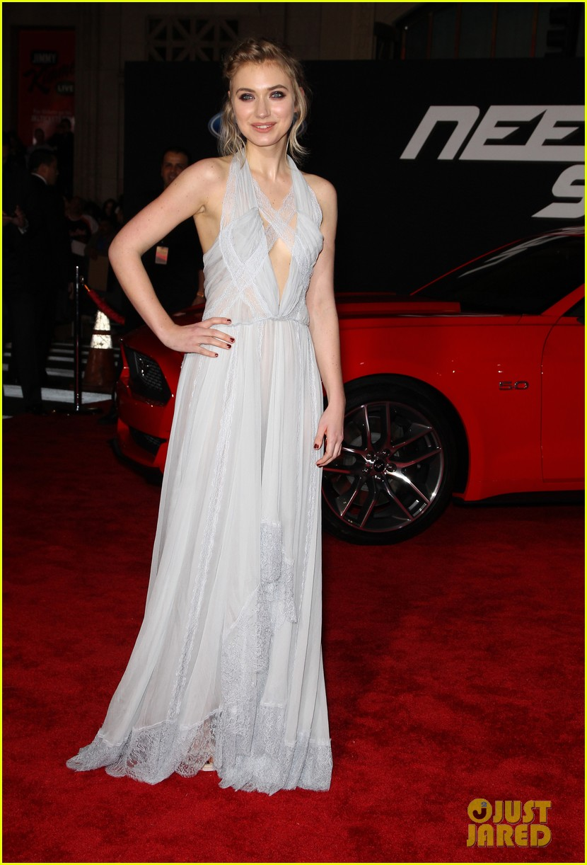 aaron paul imogen poots need for speed premiere 183067571