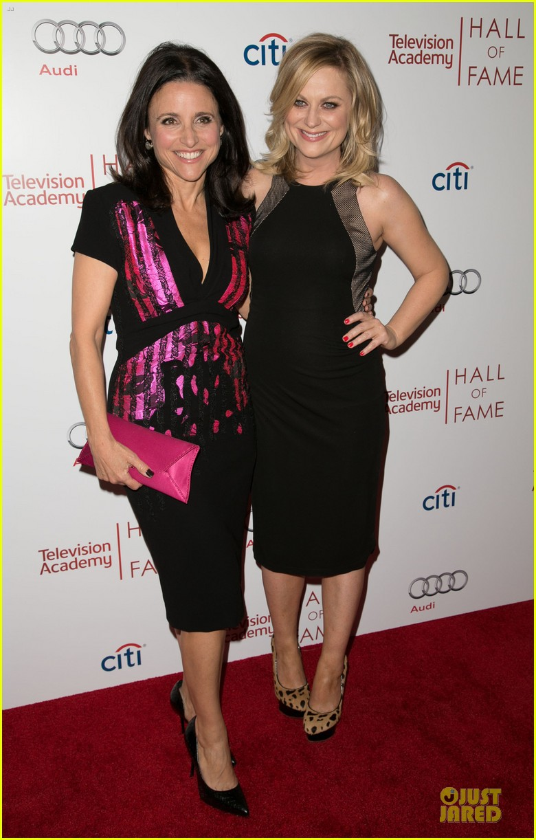 amy poehler julia louis dreyfus doll up for hall of fame gala 14