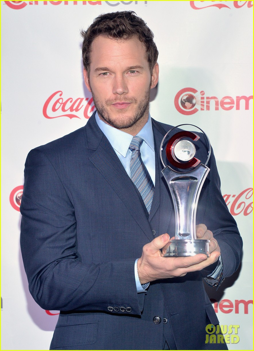 chris pratt seth rogen leslie mann cinemacon awards 15