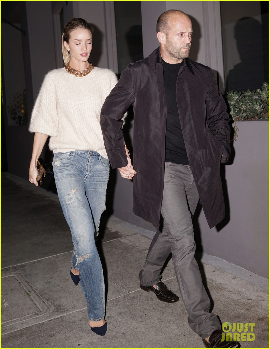 rosie huntington whiteley jason statham hold hands en route to dinner 053066606
