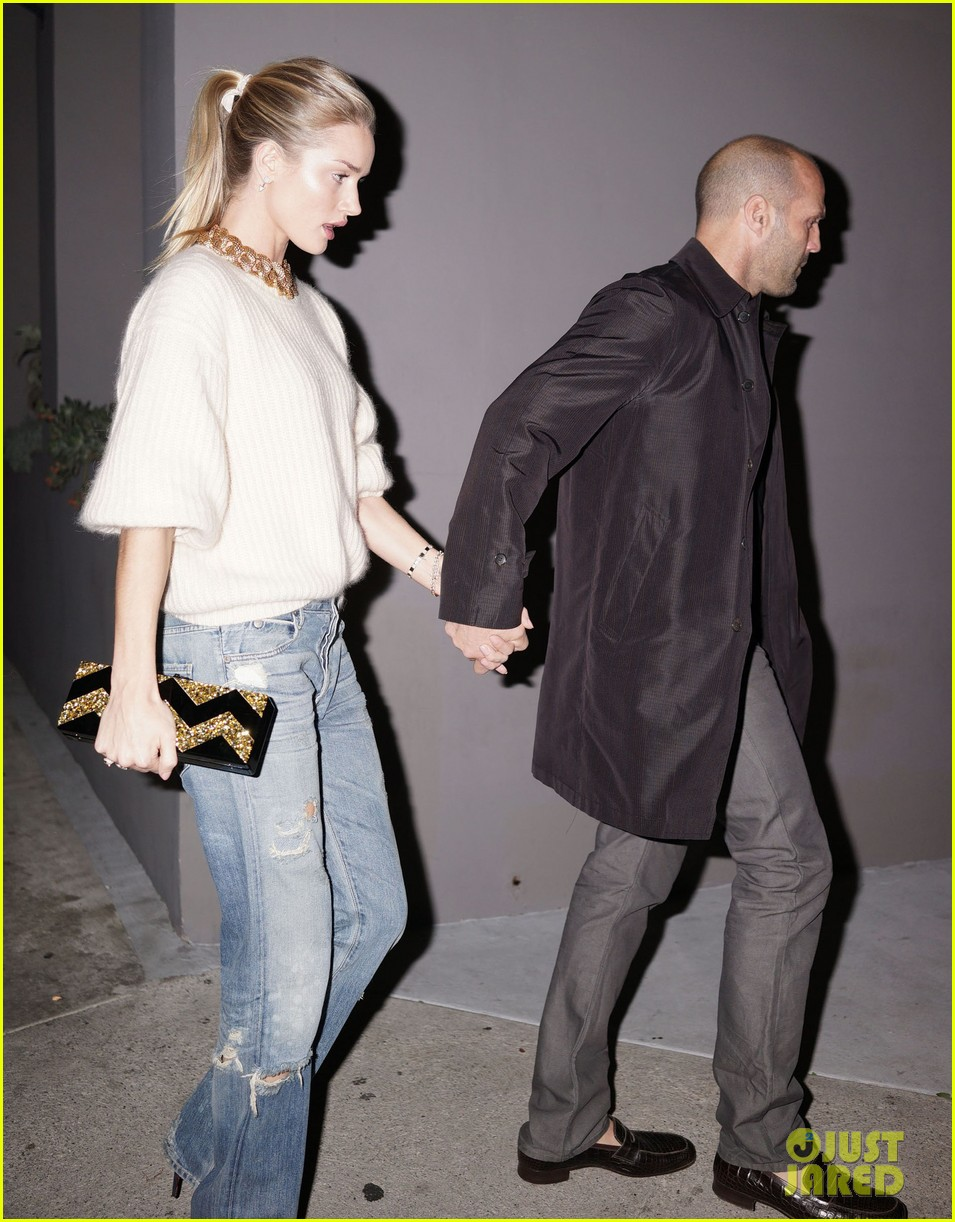 rosie huntington whiteley jason statham hold hands en route to dinner 07