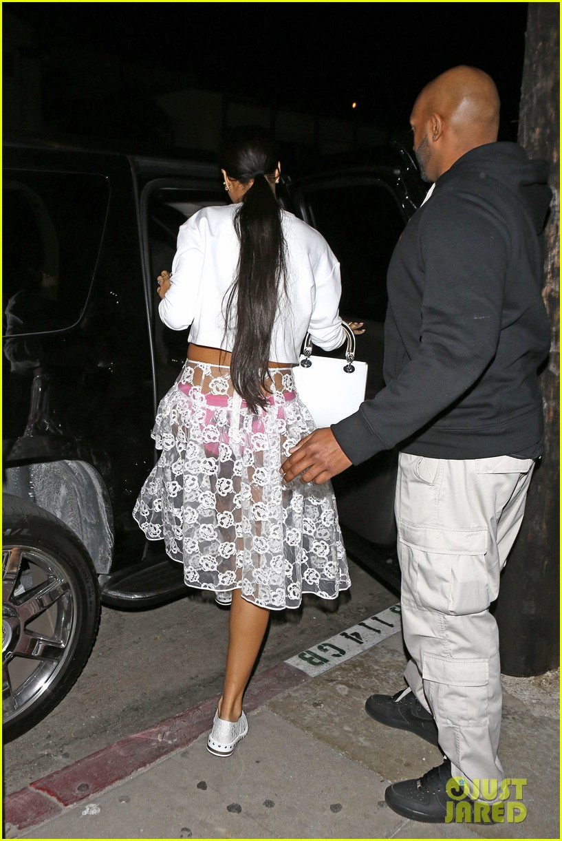 rihannas underwear is completely visible under her totally see thru skirt 18