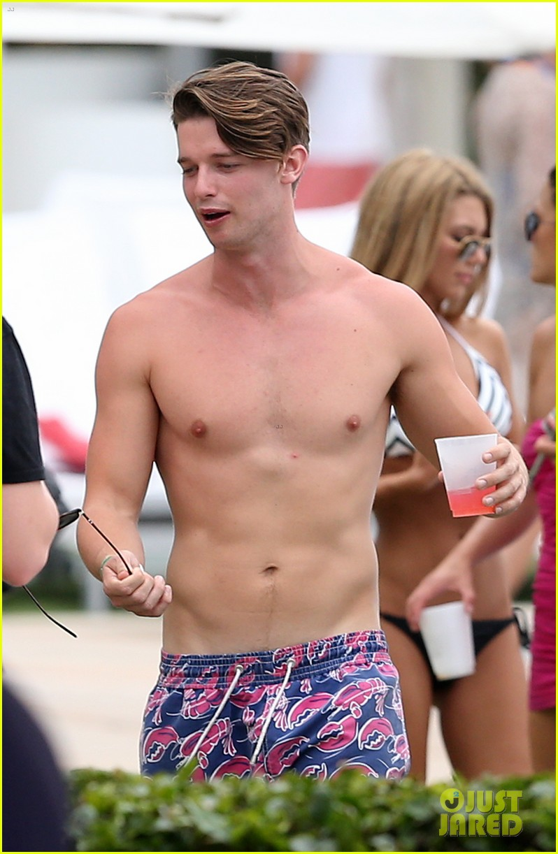 patrick schwarzenegger six pack abs miami spring break 103081574
