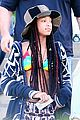 willow smith wears bikini top for sushi dinner 08