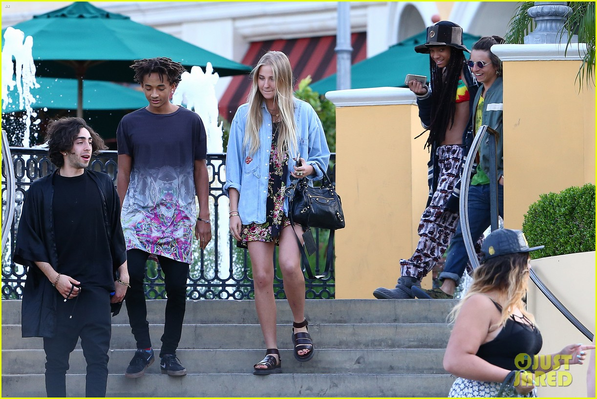 willow smith wears bikini top for sushi dinner 243069286
