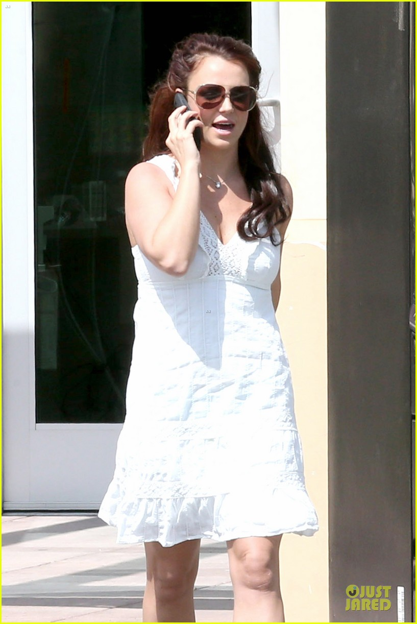 britney spears white after jamie lynn wedding 11