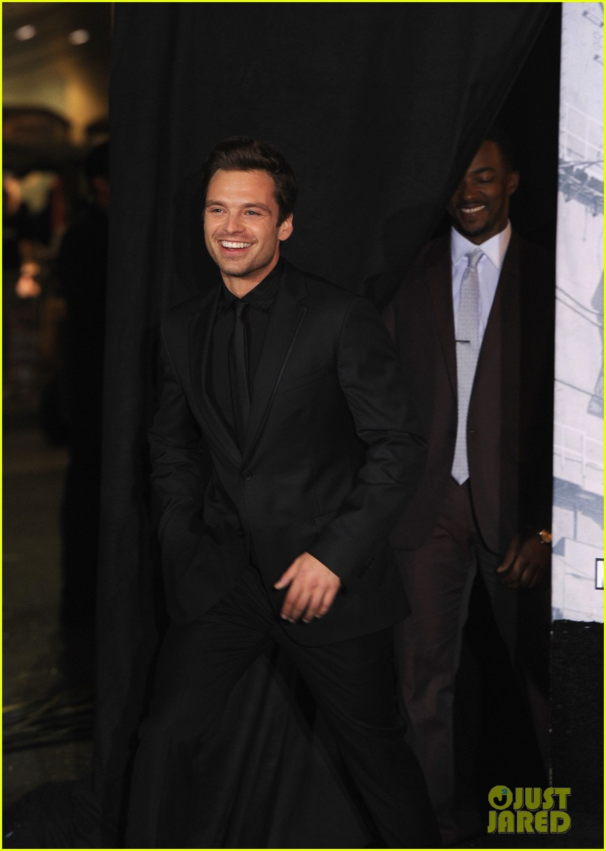 sebastian stan winter soldier at captain america premiere 08