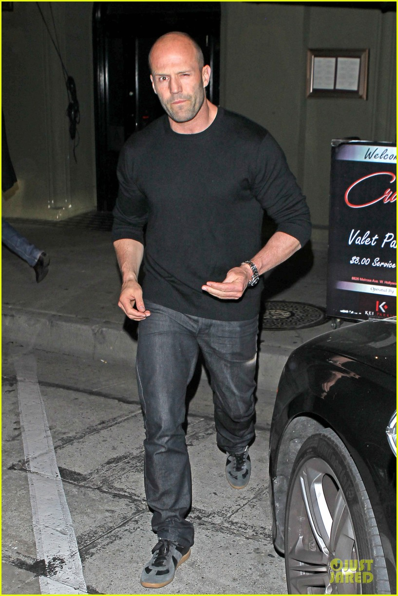 jason statham sylvester stallone dinner at craigs 073070112