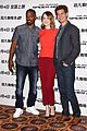 emma stone andrew garfield jamie foxx super trio amazing spider man 2 press conference 05