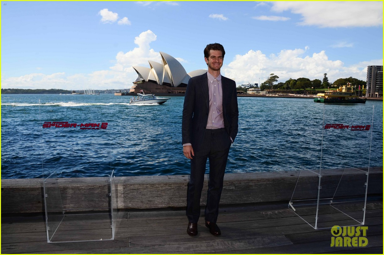 emma stone andrew garfield spider man sydney photo call 123075028