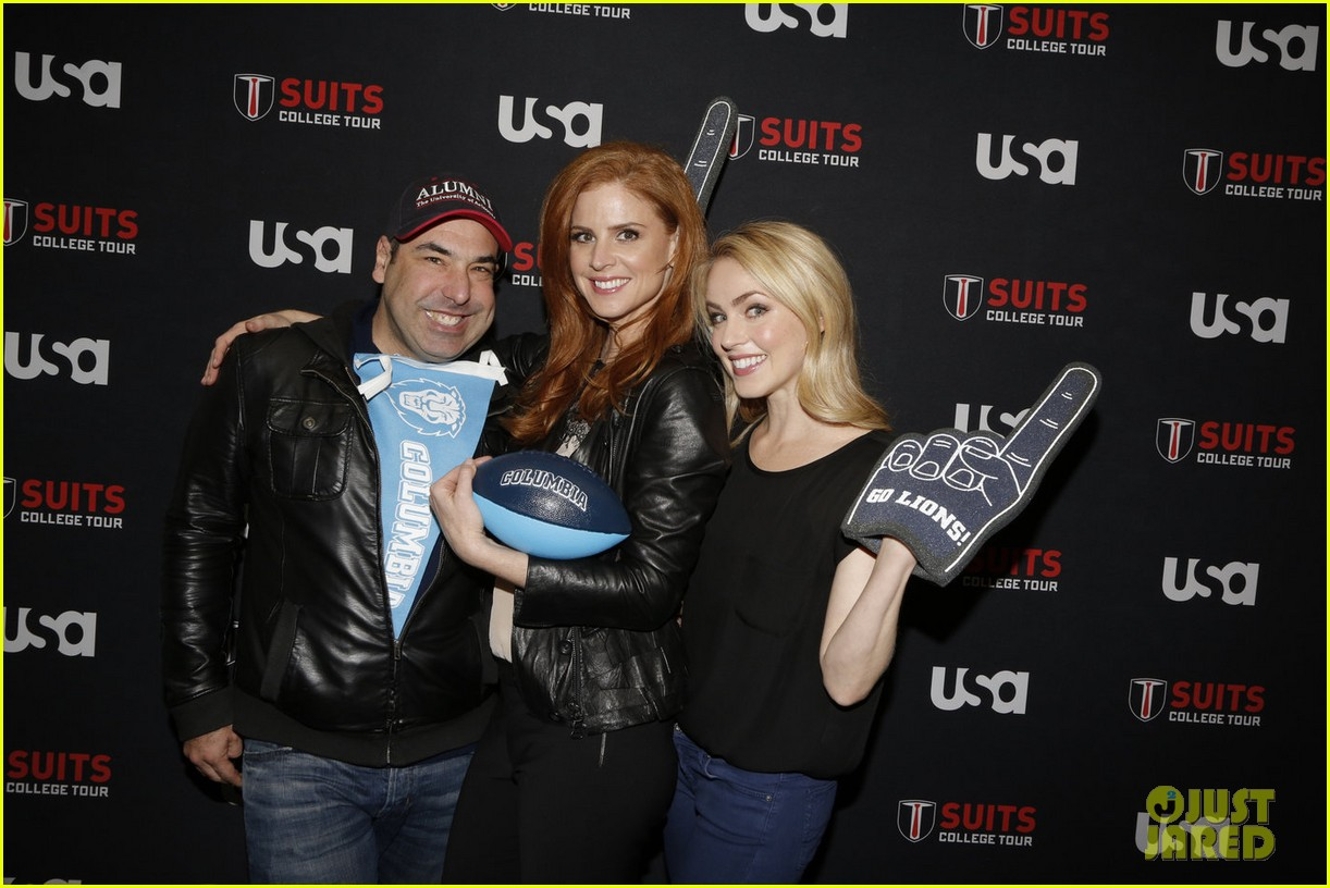 suits interview rick hoffman sarah rafferty amanda schull 02