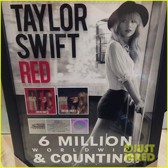 taylor swifts writing partner ed sheeran hung his red album on the wall 03
