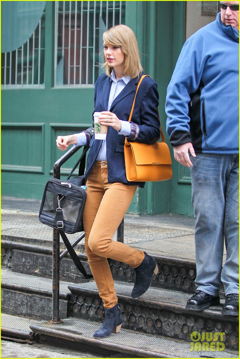 taylor swift brings her cat meredith around nyc in travel carrier 10