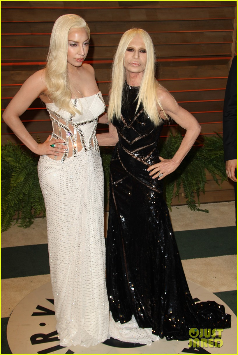 donatella versace vanity fair oscars party 2014 with lady gaga nolan gerard funk 103064785