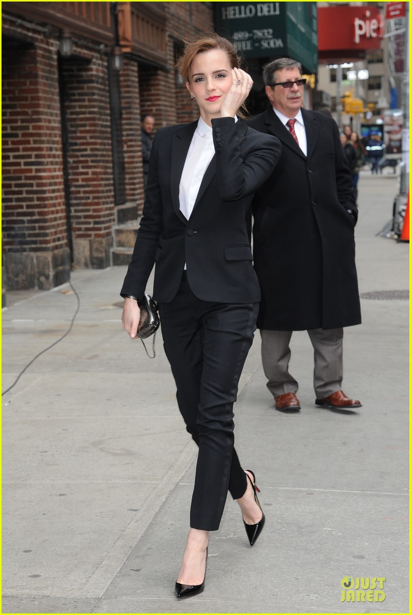 emma watson suit late show with david letterman 083078520