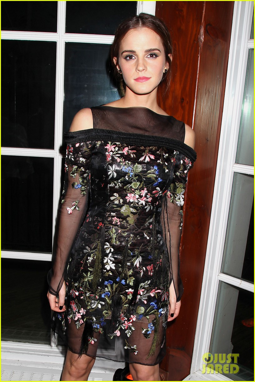 emma watson floral fierce noah nyc after party 053079345