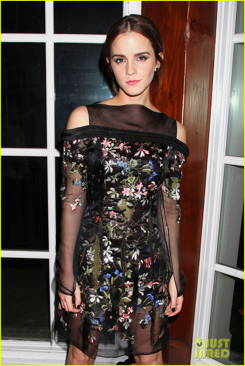 emma watson floral fierce noah nyc after party 11