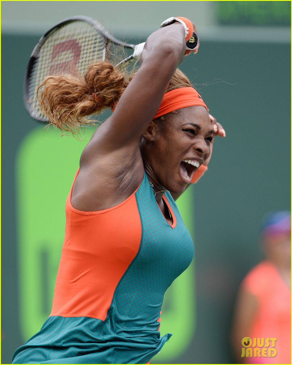serena williams jacked physique helps her advance at sony open 05