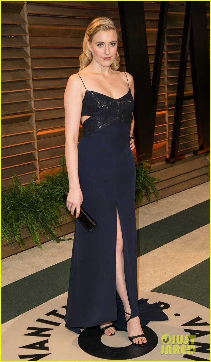 allison williams greta gerwig vanity fair oscars party 2014 14