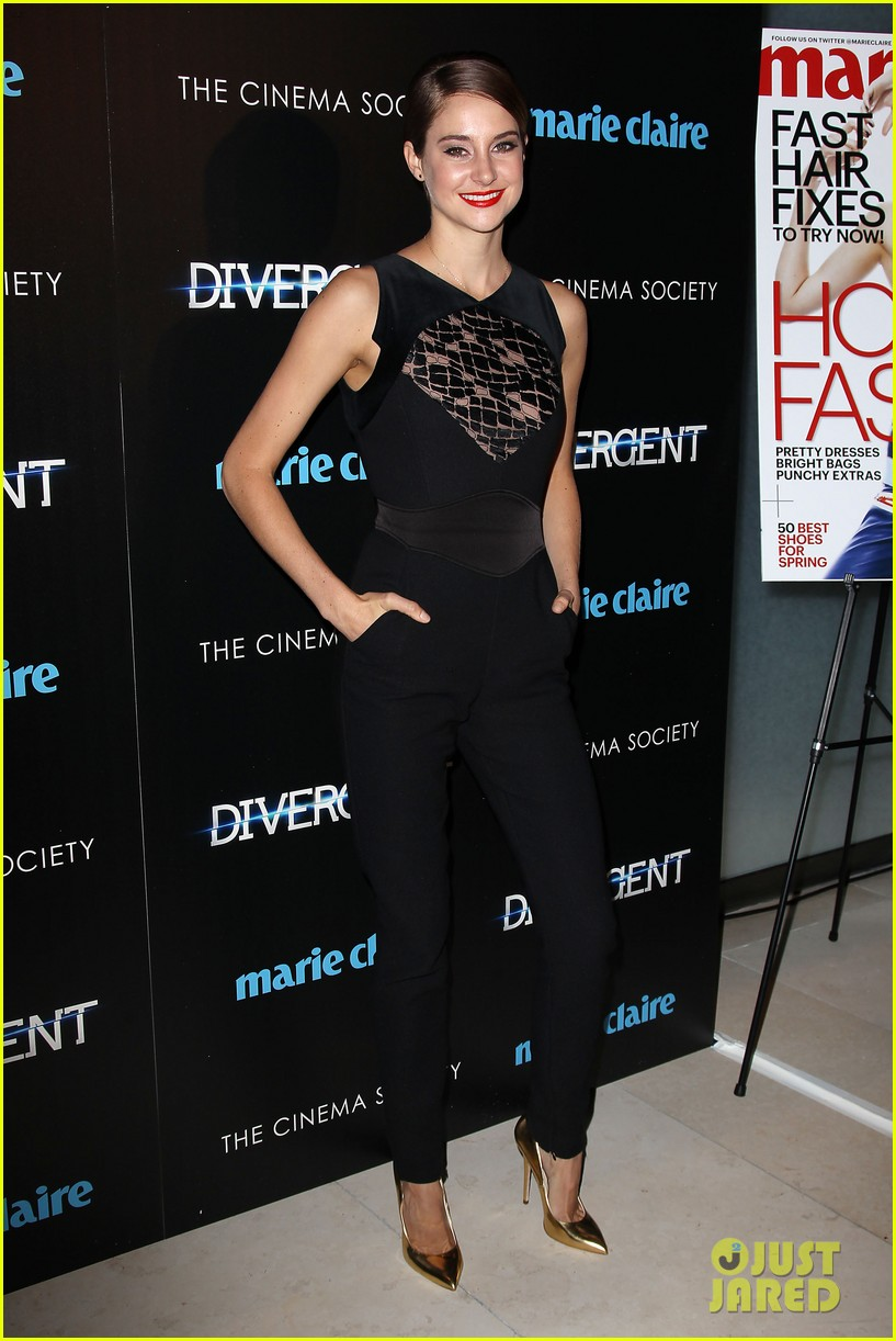 shailene woodley theo james divergent nyc screening 163075665