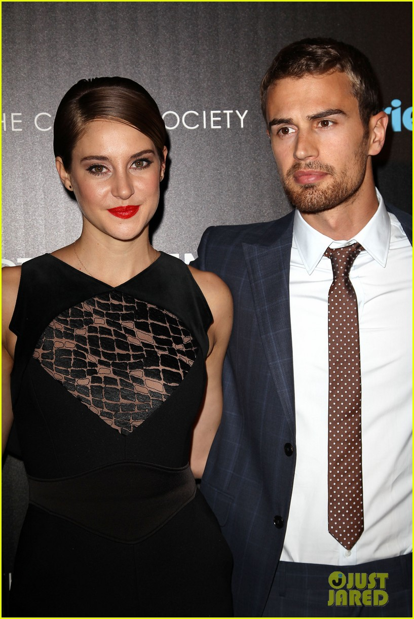 shailene woodley theo james divergent nyc screening 263075675