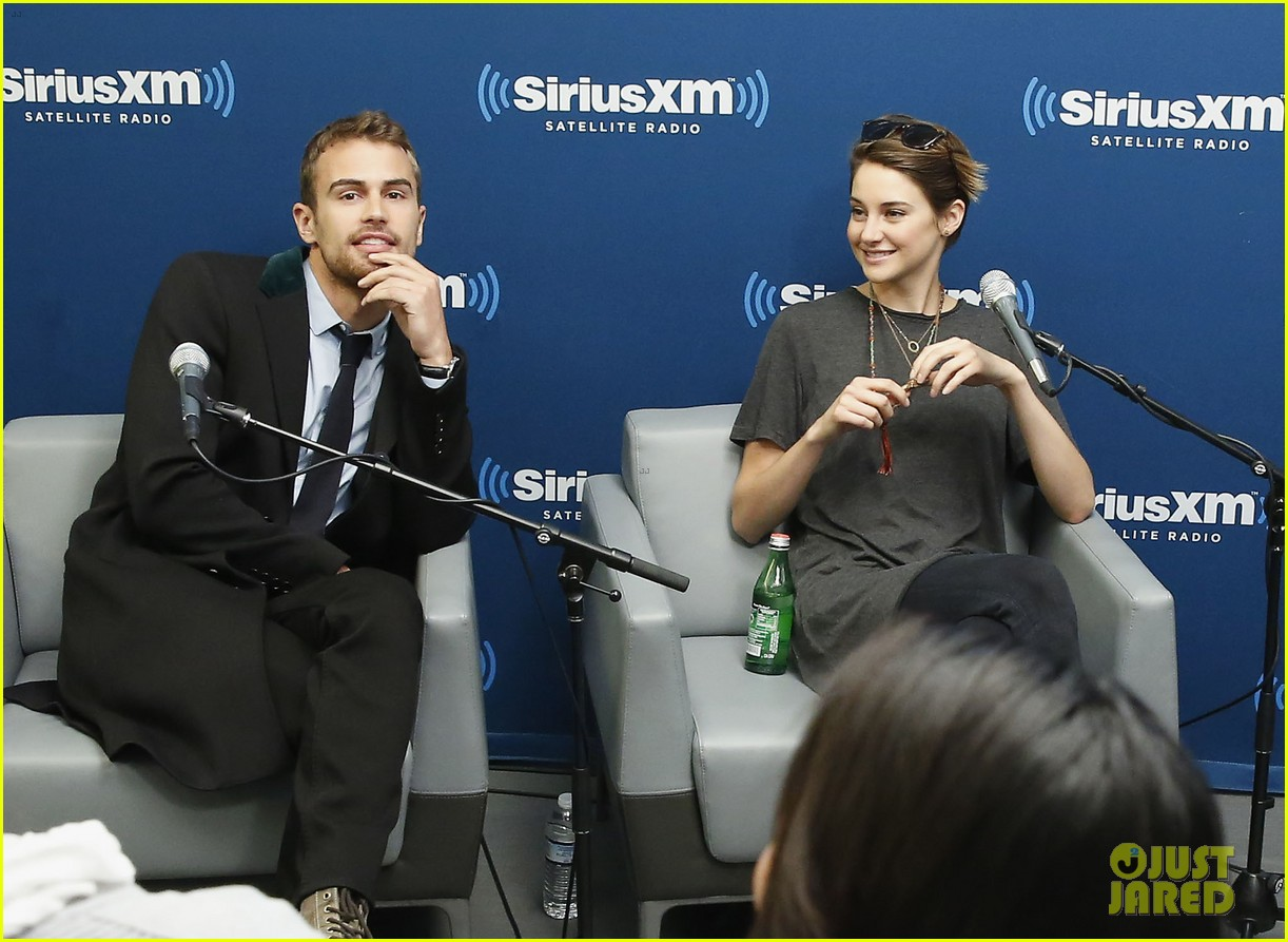 shailene woodley joins theo james for ews divergent radio special at siriusxm 01