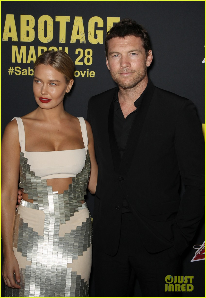 sam worthington lara bingle sabotage premiere 10