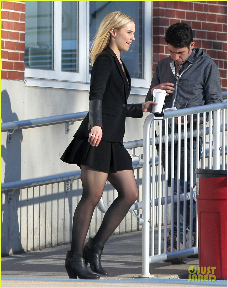 dianna agron first day on tumbledown has her in two cute outfits 033086963