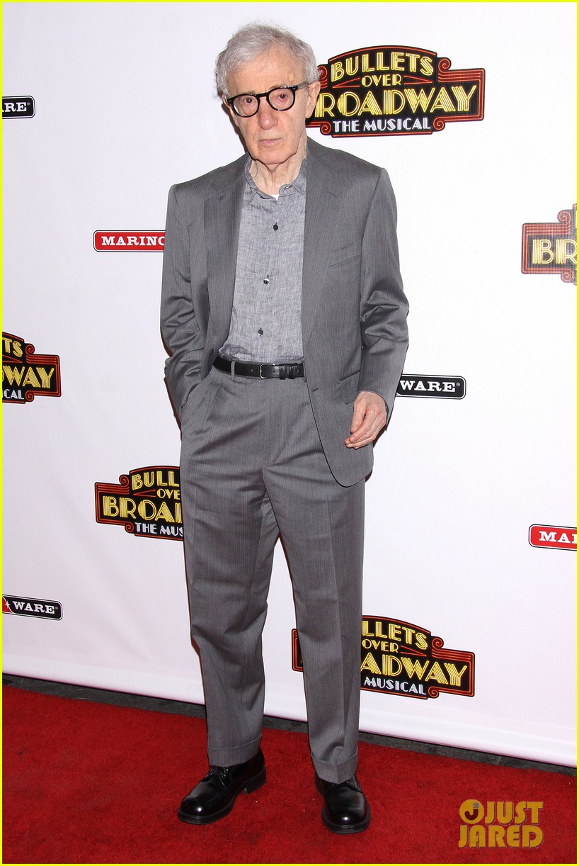 woody allen celebrates his broadway show bullets over broadways opening night 01