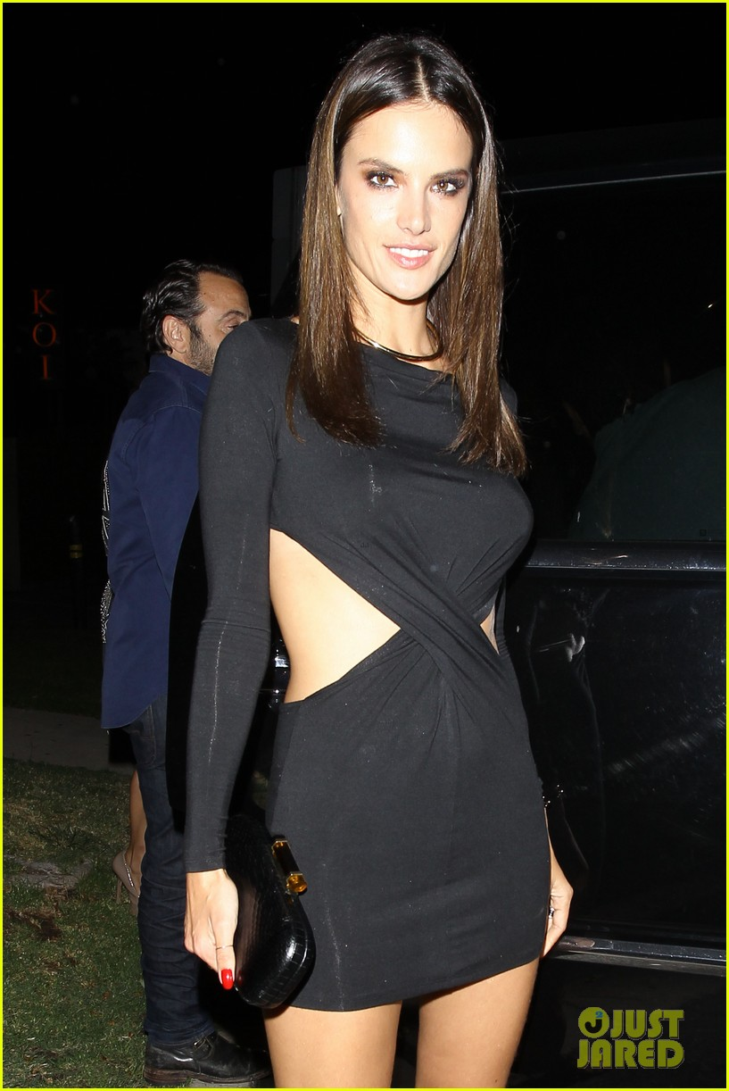 alessandra ambrosio sexy cut out dress 33rd birthday 11