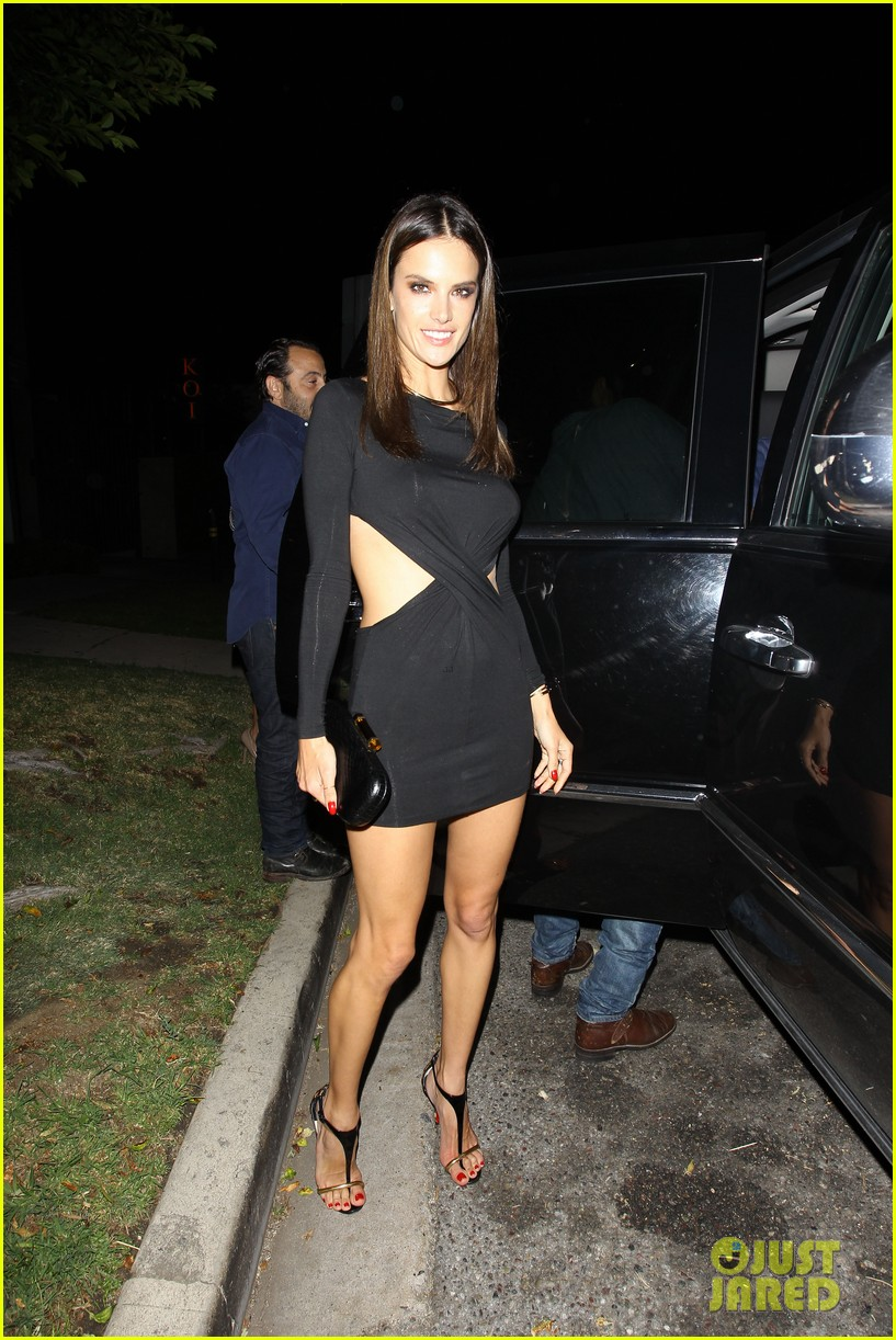 alessandra ambrosio sexy cut out dress 33rd birthday 173088965