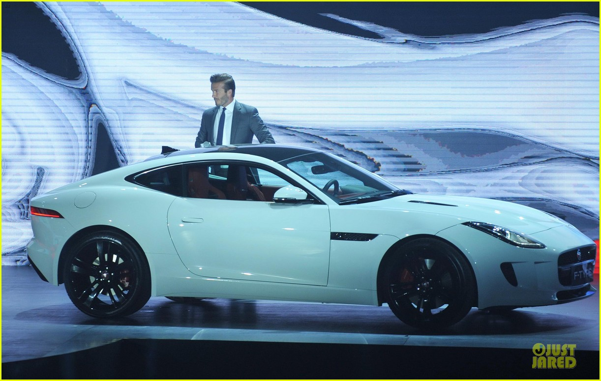 david beckham wow us without driving jaguar 09