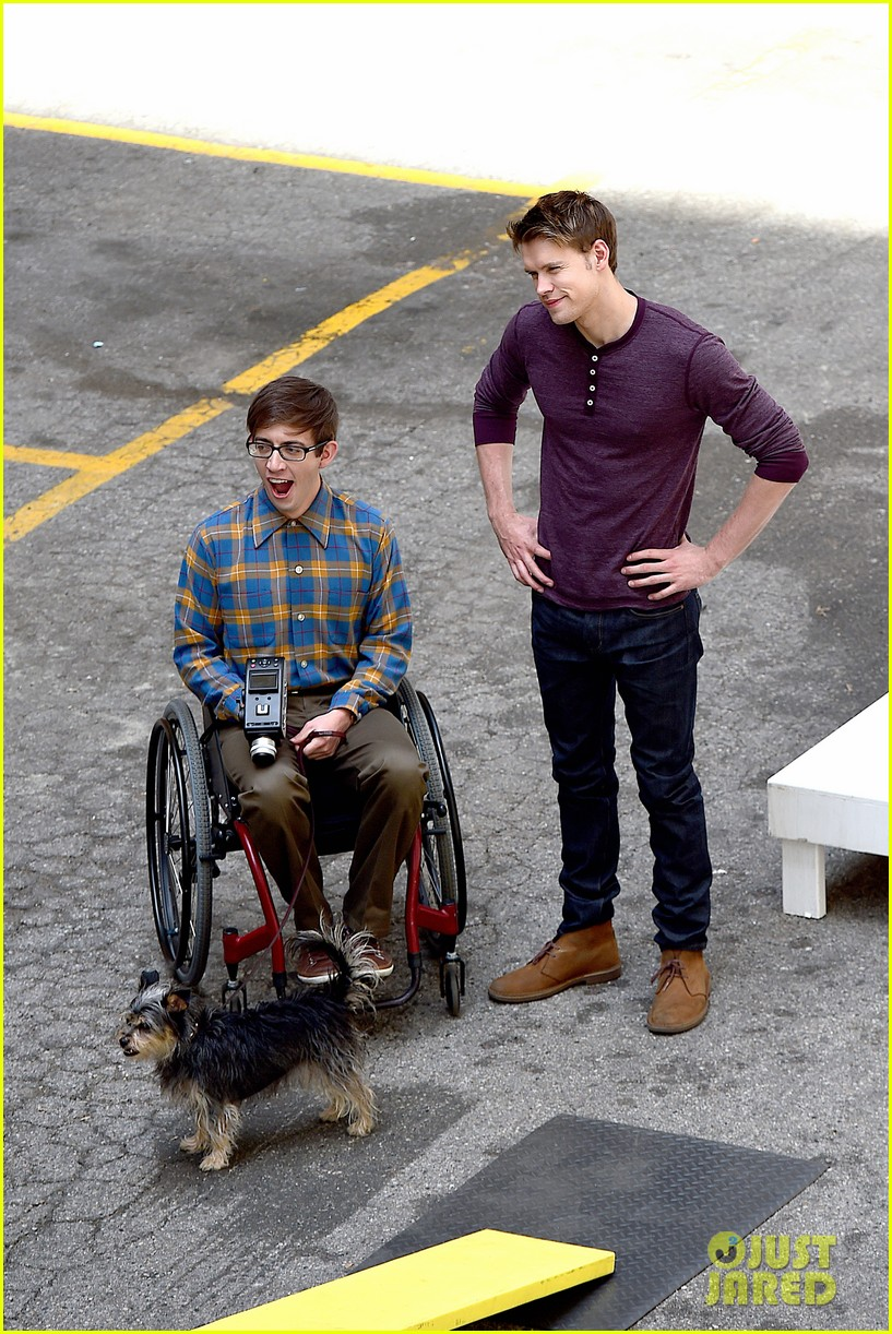 chord overstreet dotes on a dog its really cute 07