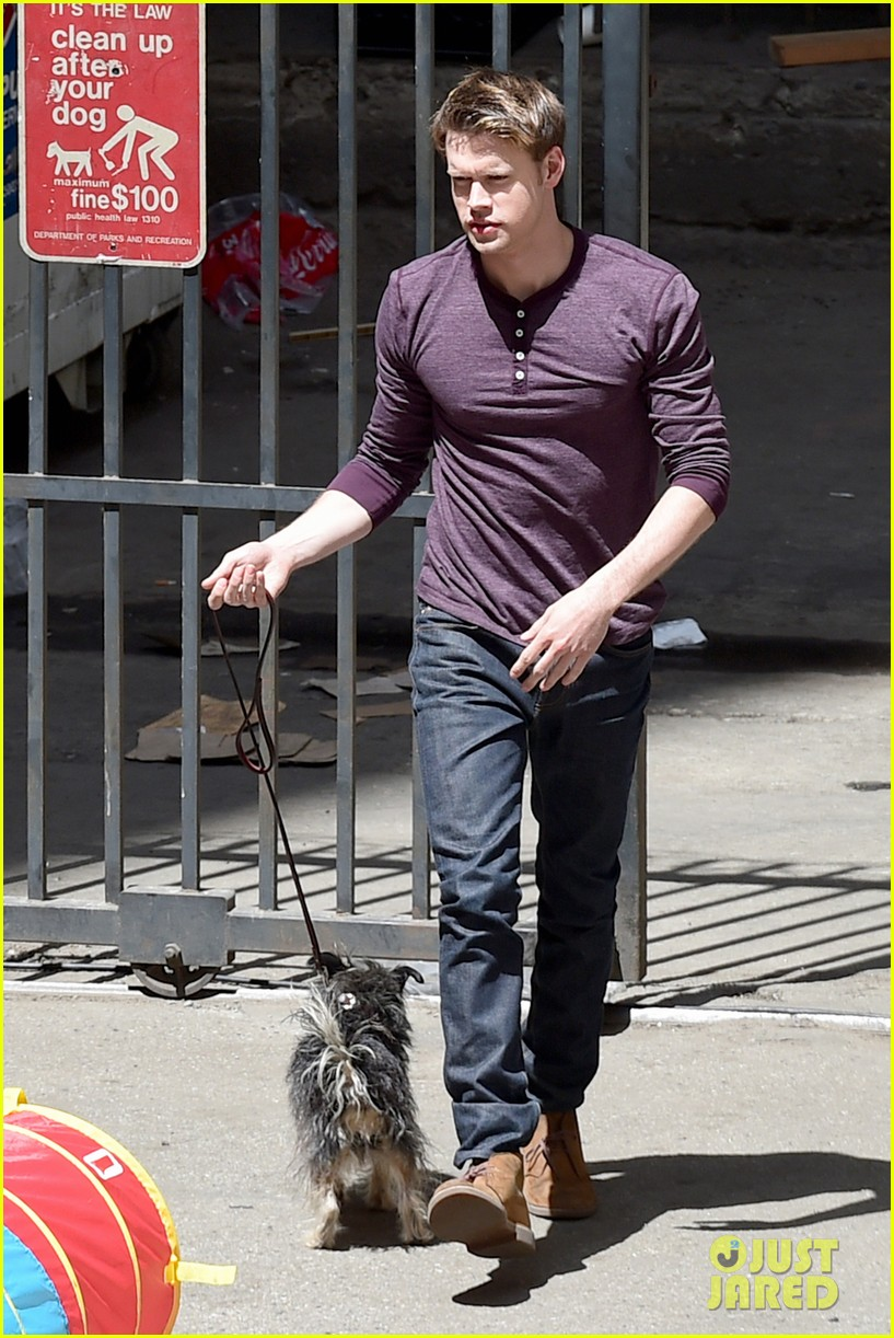 chord overstreet dotes on a dog its really cute 103098252