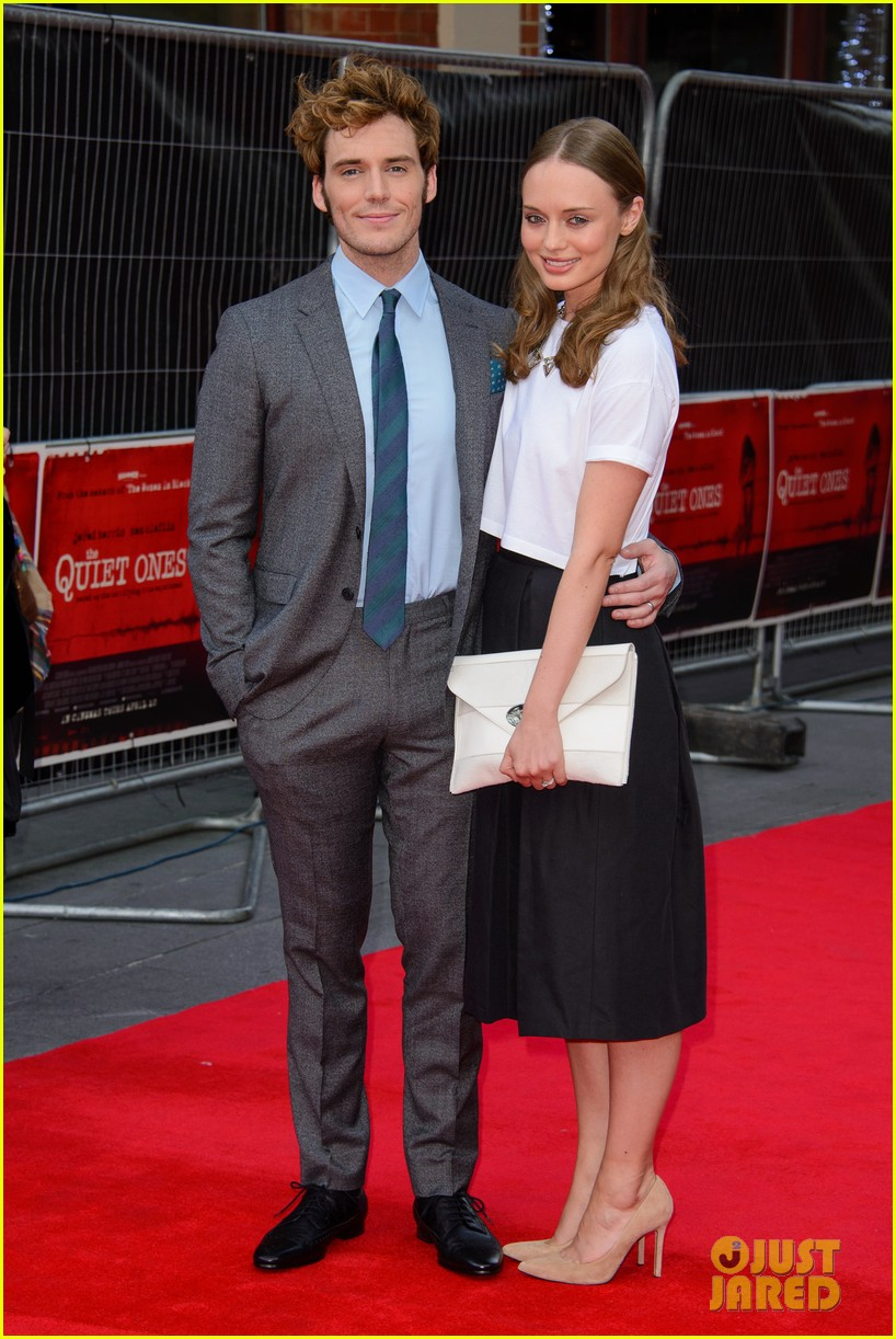 sam claflin brings wife laura haddock to quiet ones world premiere 01