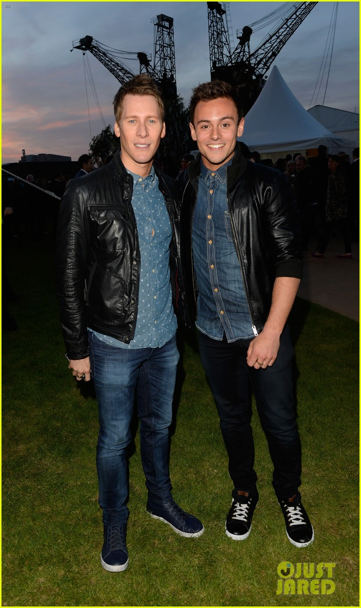 tom daley dustin lance black attend first event as a couple 033102553