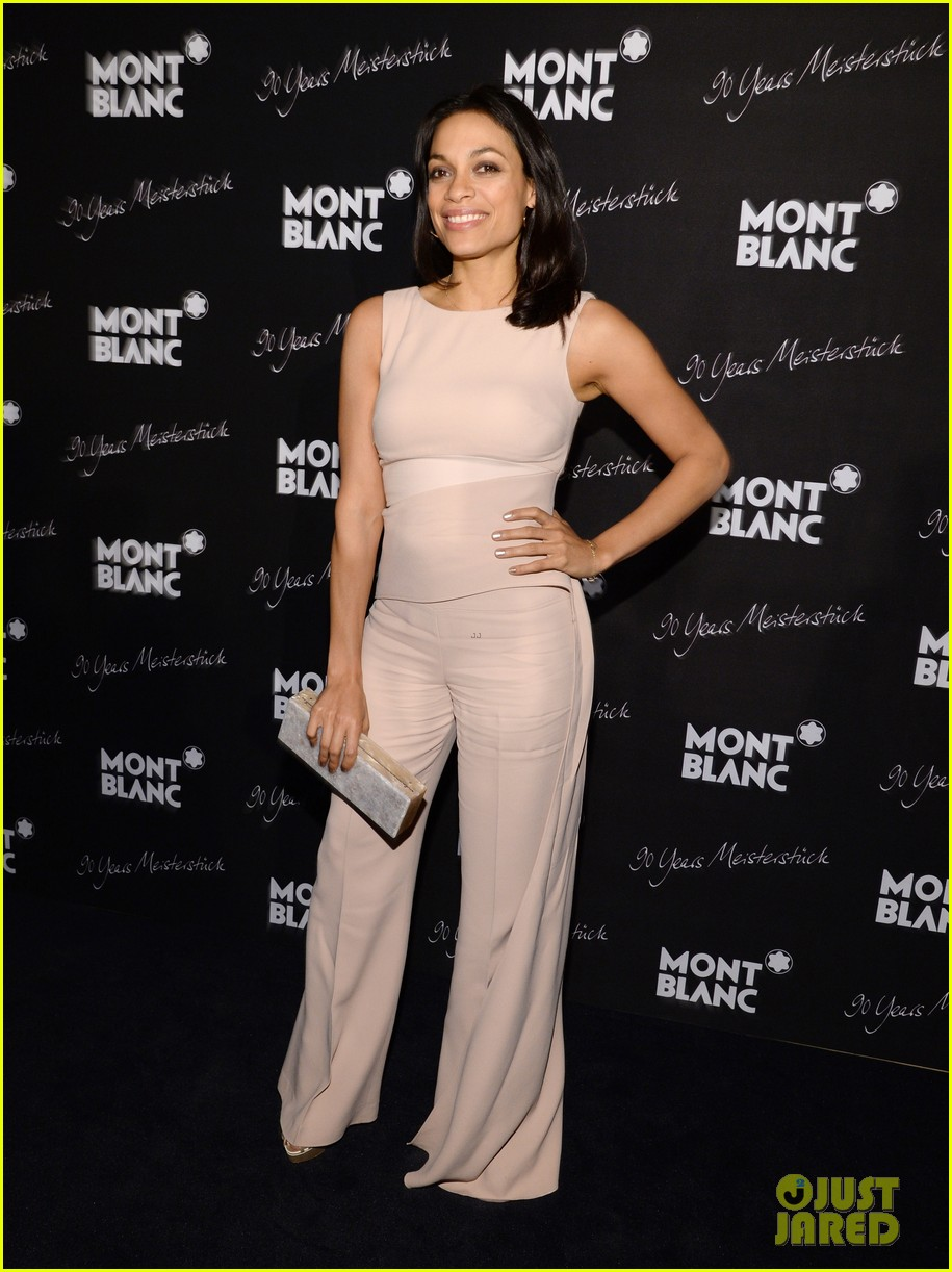 rosario dawson madalina ghenea montblanc celebrate 90 years of the iconic meisterstuck 013084454