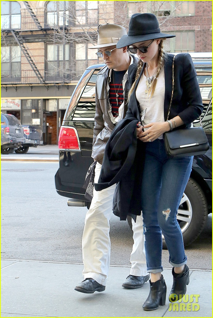 johnny depp amber heard step out together new york 123096358