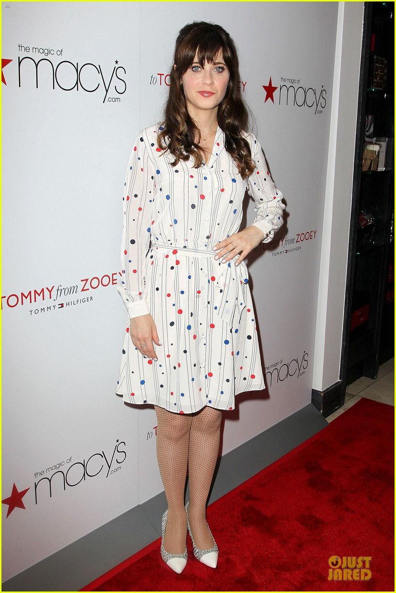 zooey deschanel tommy hilfiger collection launch 083092496