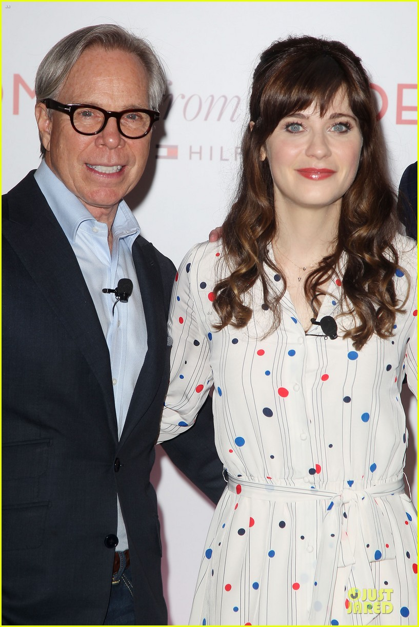 zooey deschanel tommy hilfiger collection launch 15